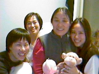 L~R Mommy, Wendy, Sifu(Master in chinese) and mee..Wendy and I just got off work..yeah I look *ReaL* good! blah. hahahha